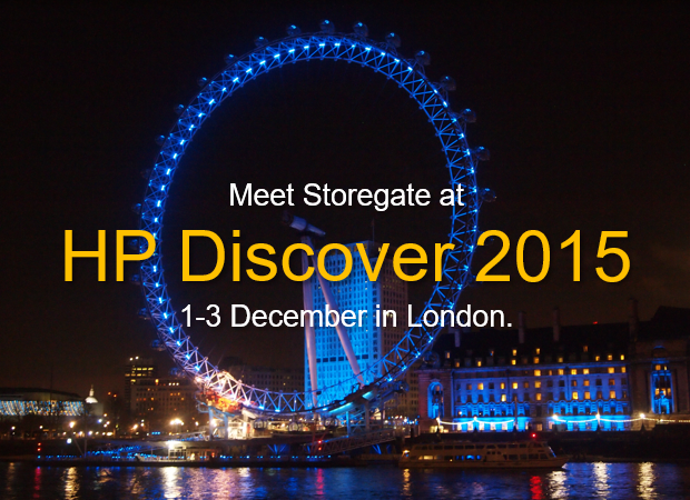 Meet Storegate At HP Discover In London 1-3 December
