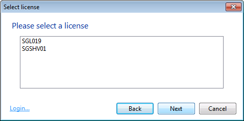 select-license