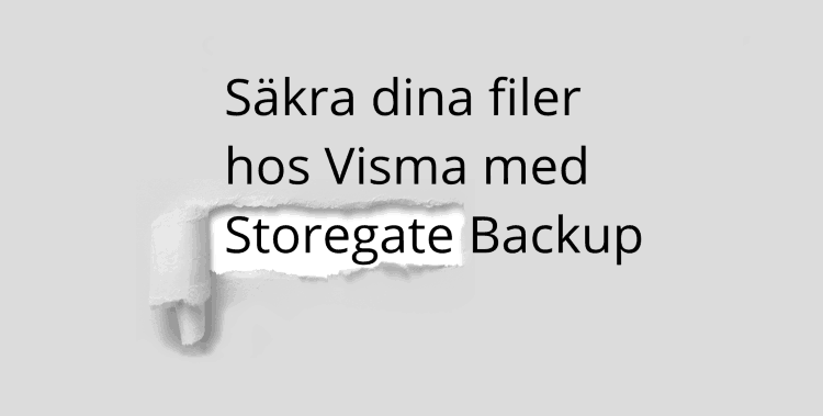 Visma Backup becomes Storegate Backup