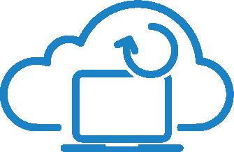 Backup dator ikon