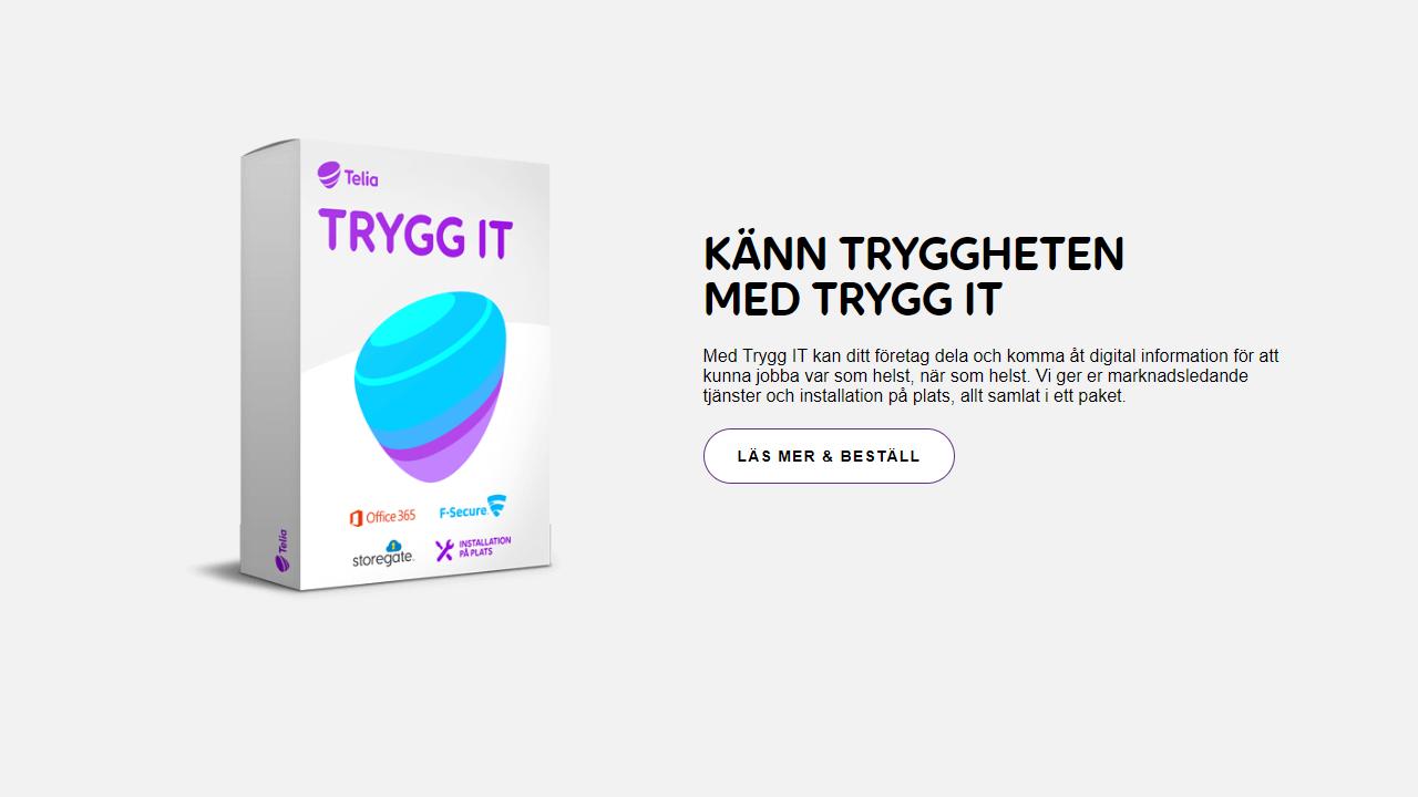 Storegate – Det Svenska Molnet I Telia TRYGG IT