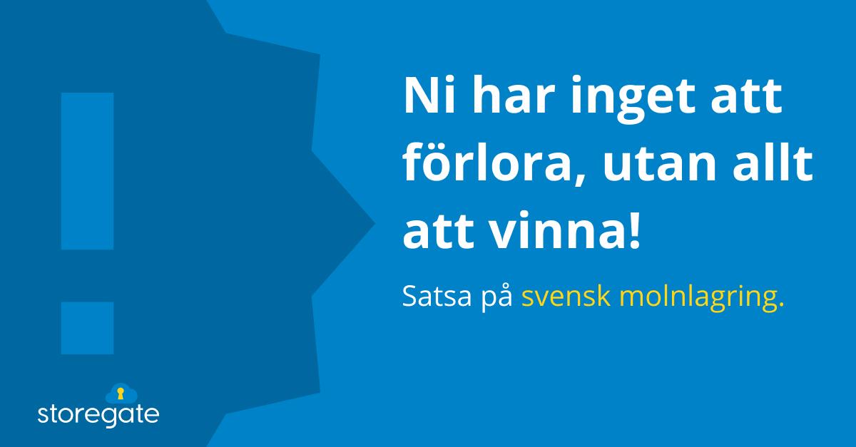 Allt Att Vinna Pa Svensk Molnlagring