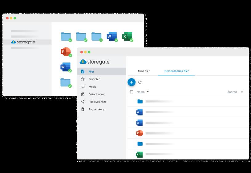 Storegate webb och åtkomst direkt i ditt operativsystem