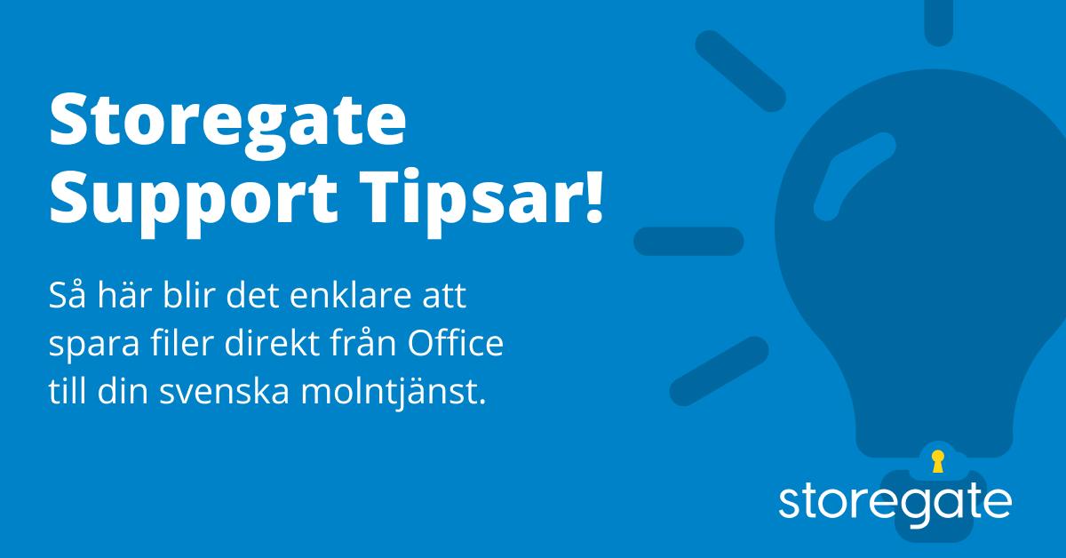 Storegate Support Tipsar